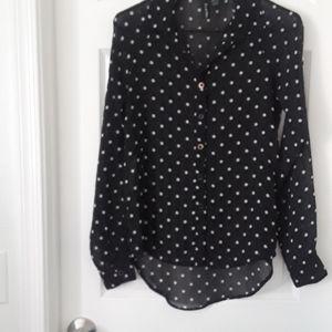 Fun & flirt polka dot blouse Size S